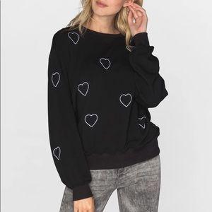 CHRLDR super soft heart sweater